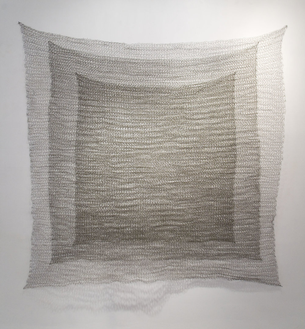 """Sabine Reckewell, """"Square #4, 5, 6,"""" 1978, wire 66 x 66 inches"""
