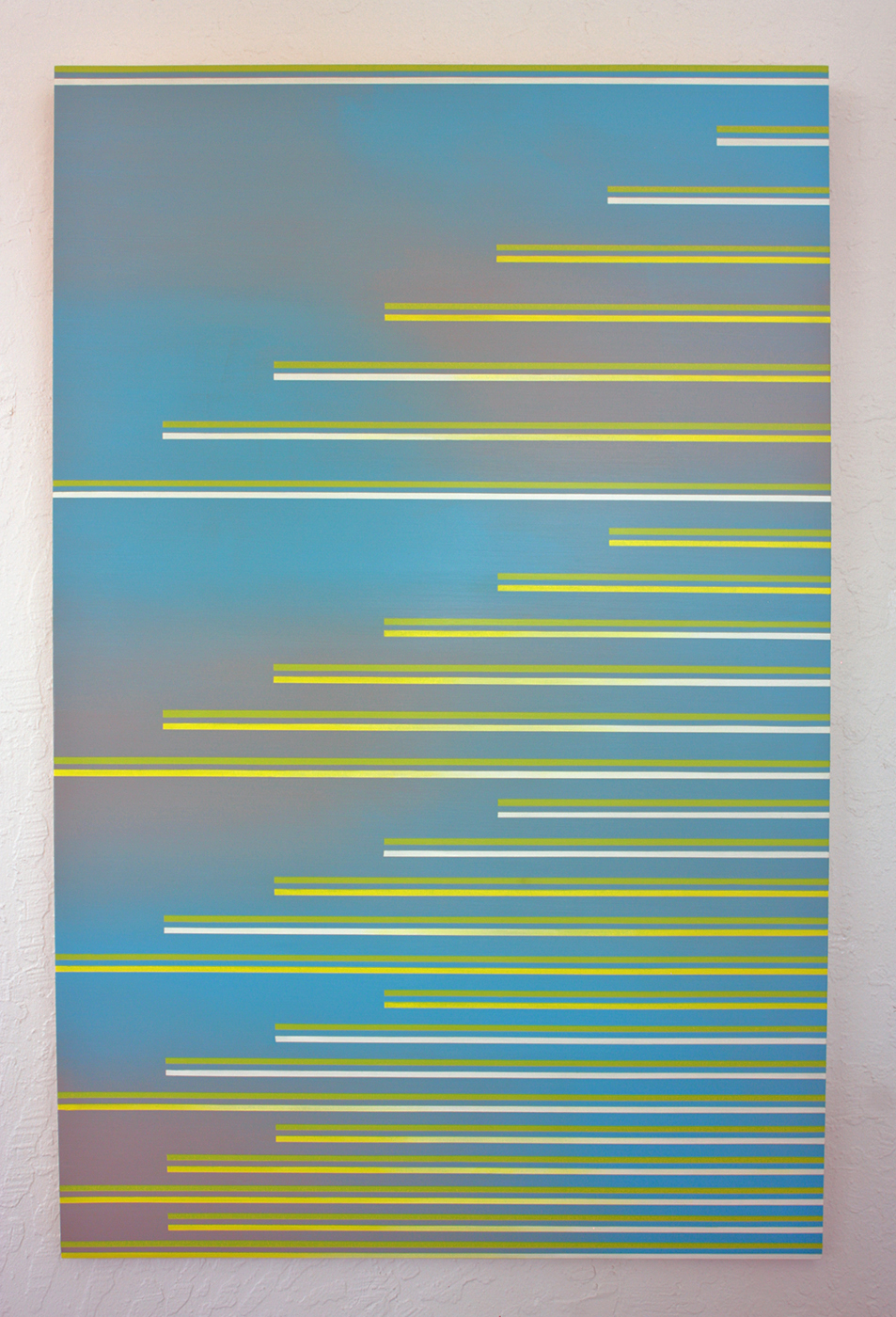 """Escape Velocity,"" 2016, acrylic on panel, 41 x 26 inches"