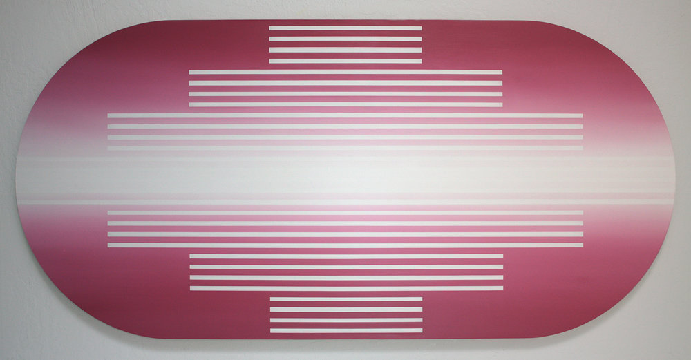 """Obligation of Repetition,"" 2016, acrylic on panel, 36 x 74 inches"