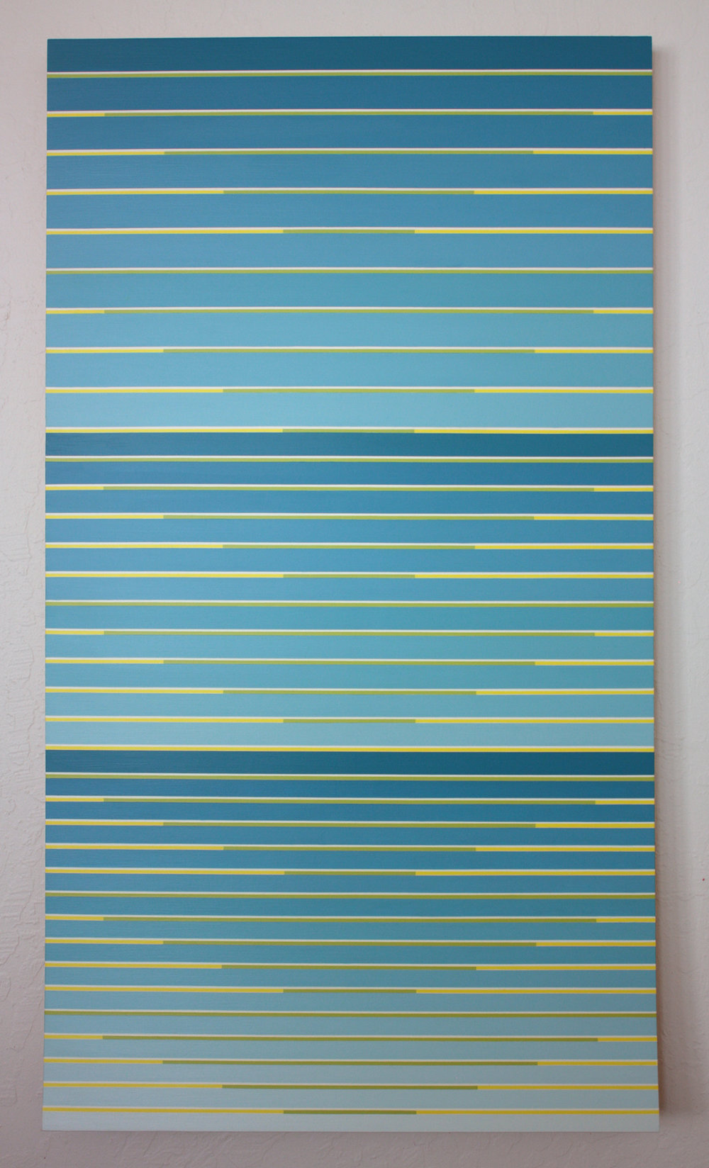 """Pulled Thru Infinity,"" 2017, acrylic on panel, 45 x 25 inches"