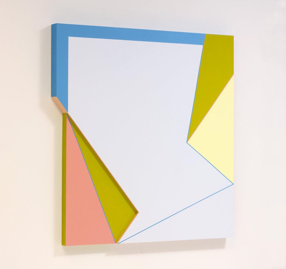 Connie Goldman, Genea XII, 2017,oil on panel,35 x 32 x 2 inches