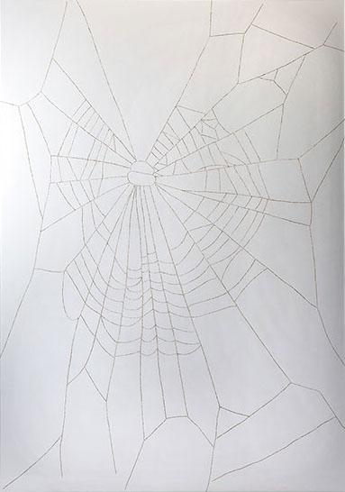 "Gail Wight, ""Marijuana,"" 2012, burned vellum, 48 x 36 inches"