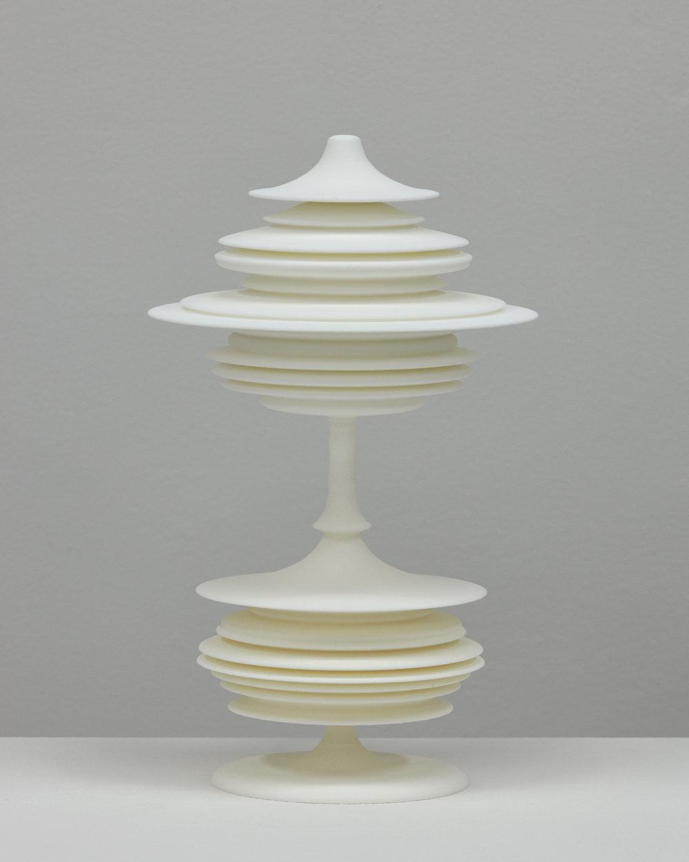 "Laura Splan, ""Manifest (Blink Twice),"" 2015, Laser sintered polyamide nylon, 8 x 4.75 x 4.75 inches, edition of 5 plus one artist proof"