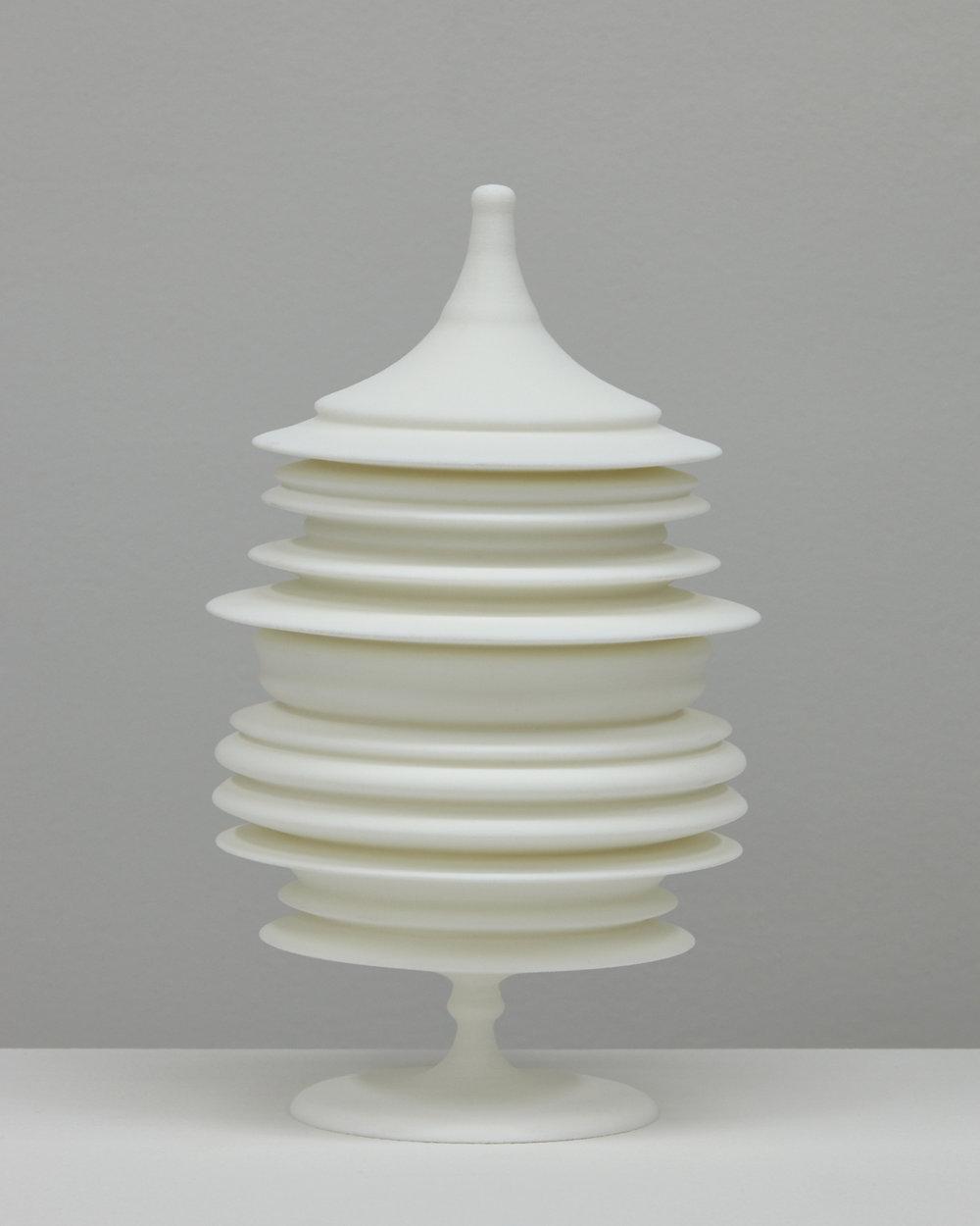 "Laura Splan, ""Manifest (Furrow),"" 2015, Laser sintered polyamide nylon, 8 x 4.75 x 4.75 inches, edition of 5 plus one artist proof"