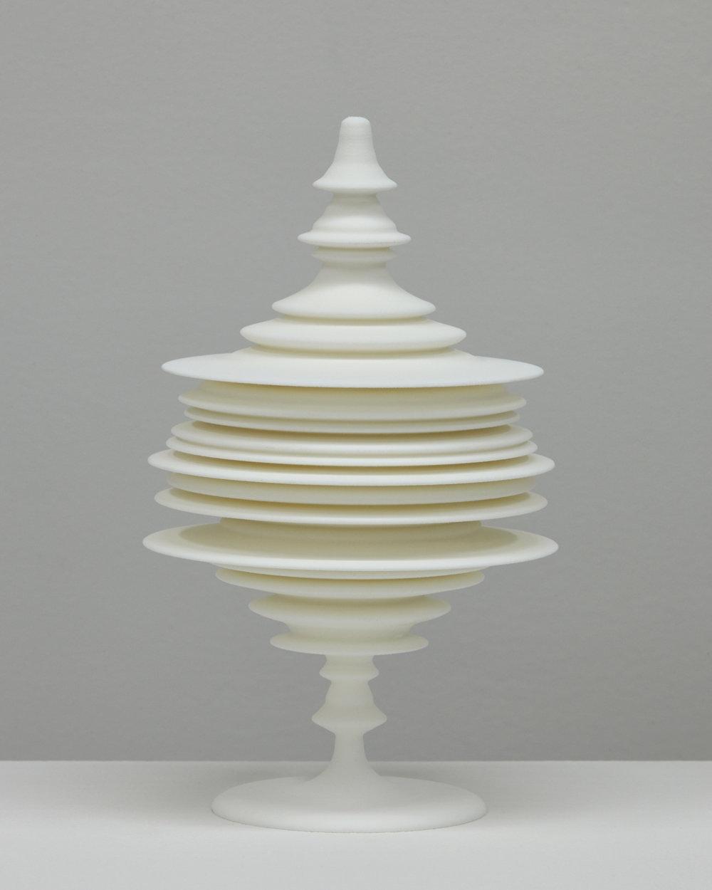 "Laura Splan, ""Manifest (Smile),"" 2015, Laser sintered polyamide nylon, 8 x 4.75 x 4.75 inches, edition of 5 plus one artist proof"