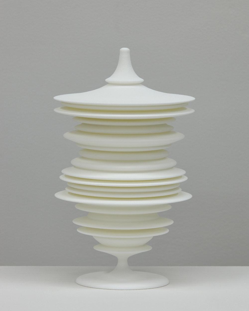 "Laura Splan, ""Manifest (Squint),"" 2015, Laser sintered polyamide nylon, 8 x 4.75 x 4.75 inches, edition of 5 plus one artist proof"