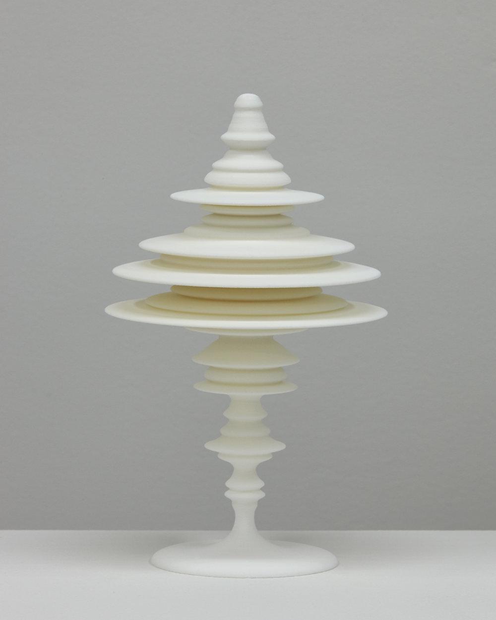 "Laura Splan, ""Manifest (Swallow),"" 2015, Laser sintered polyamide nylon, 8 x 4.75 x 4.75 inches, edition of 5 plus one artist proof"