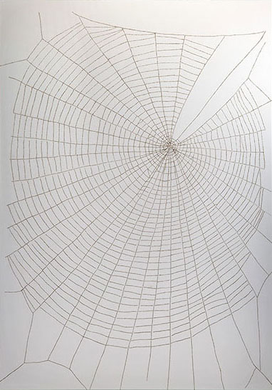 "Gail Wight, ""LSD,"" 2012, burned vellum, 48 x 36 inches"