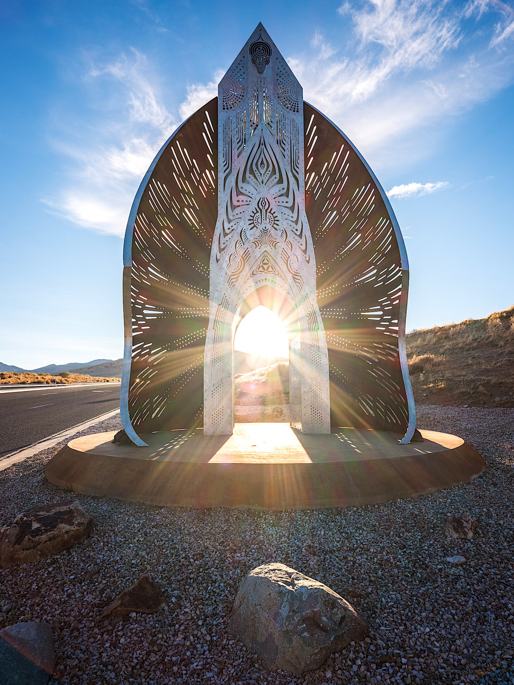 Sunsert through Transition Portal. Photo by Ryalnd West.