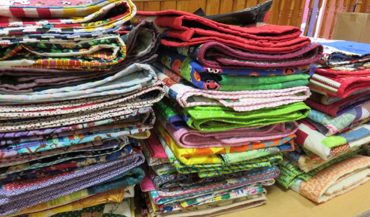 Baby Quilts collected at the September meeting