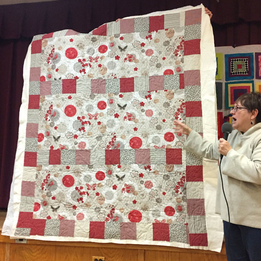 French linen quilt by Susan Sato