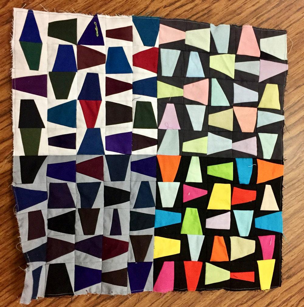 Quilt study by Barbara Danzi