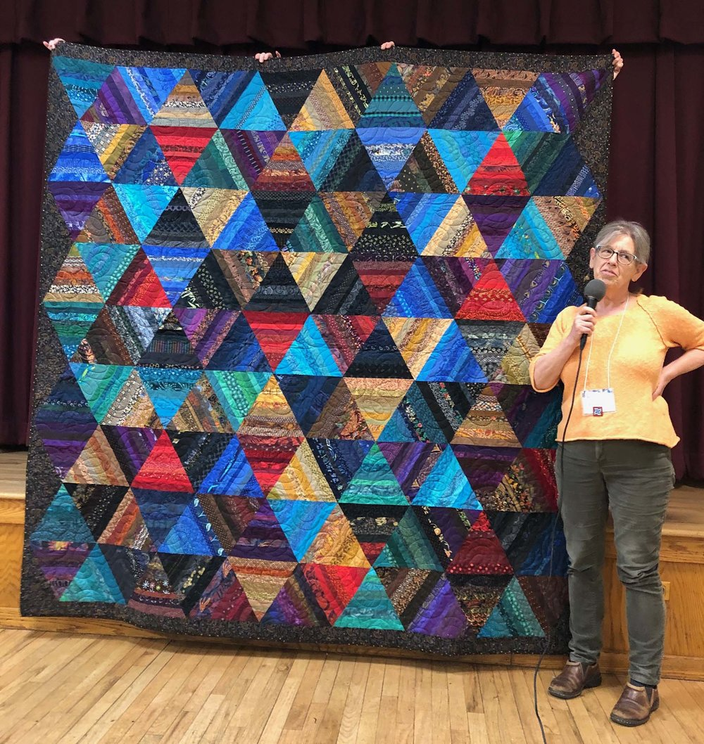 Wedding quilt for Lance and Jeani by Kate Haller