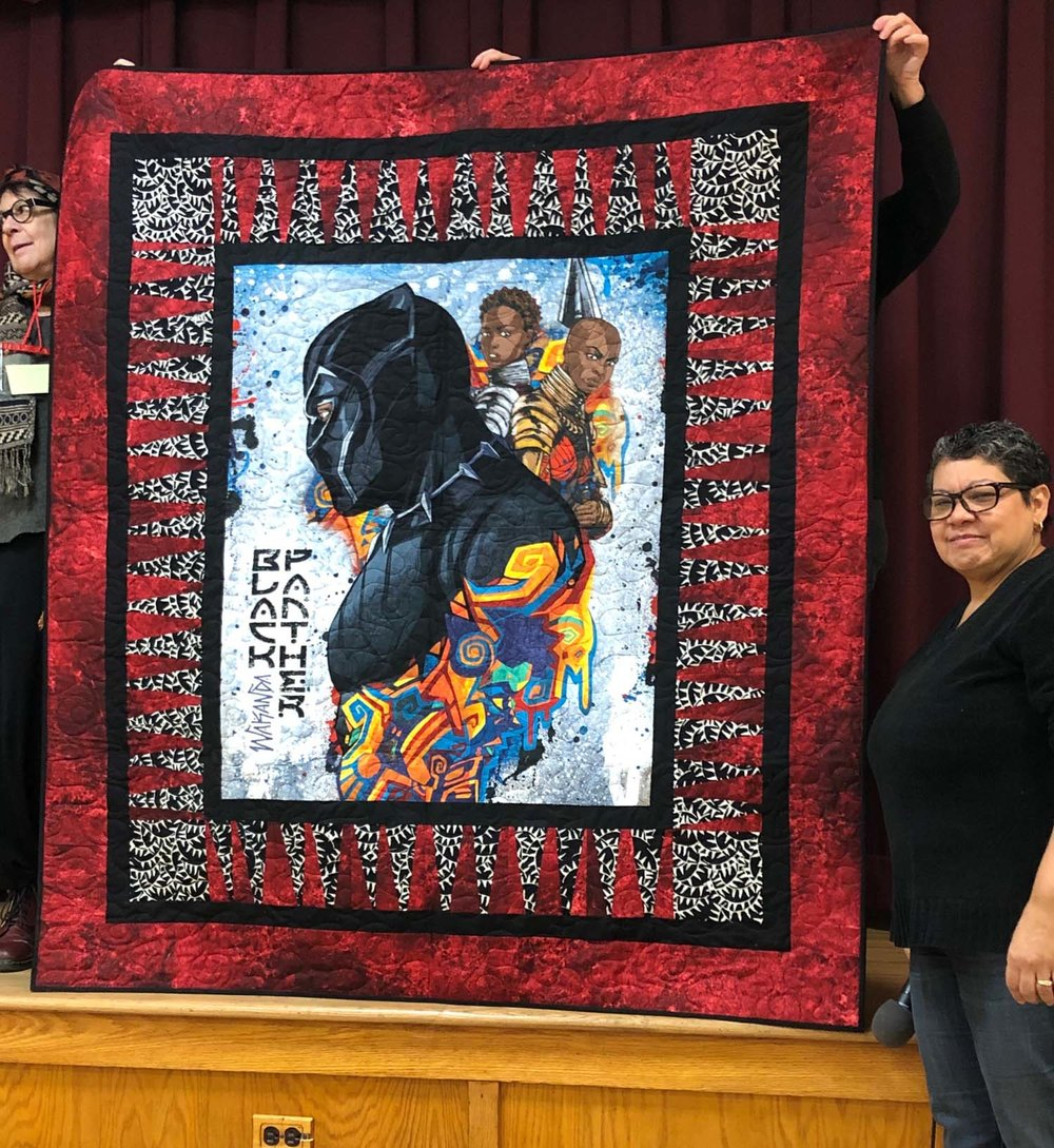Black Panther quilt by Sylvia Hernandez