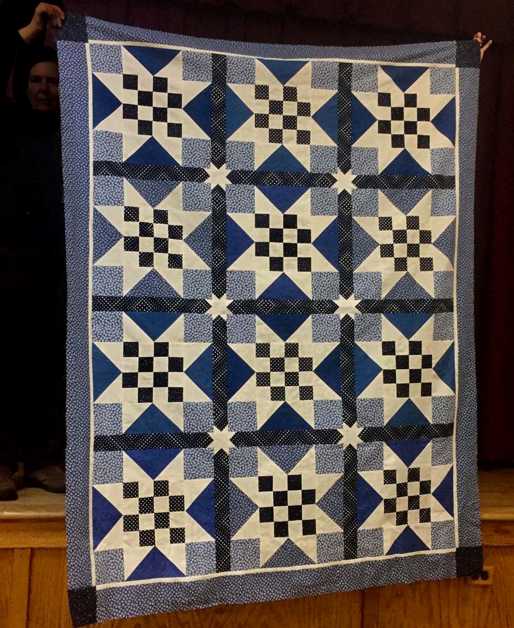 A H.O.P.S. quilt made by Valerie Turer.