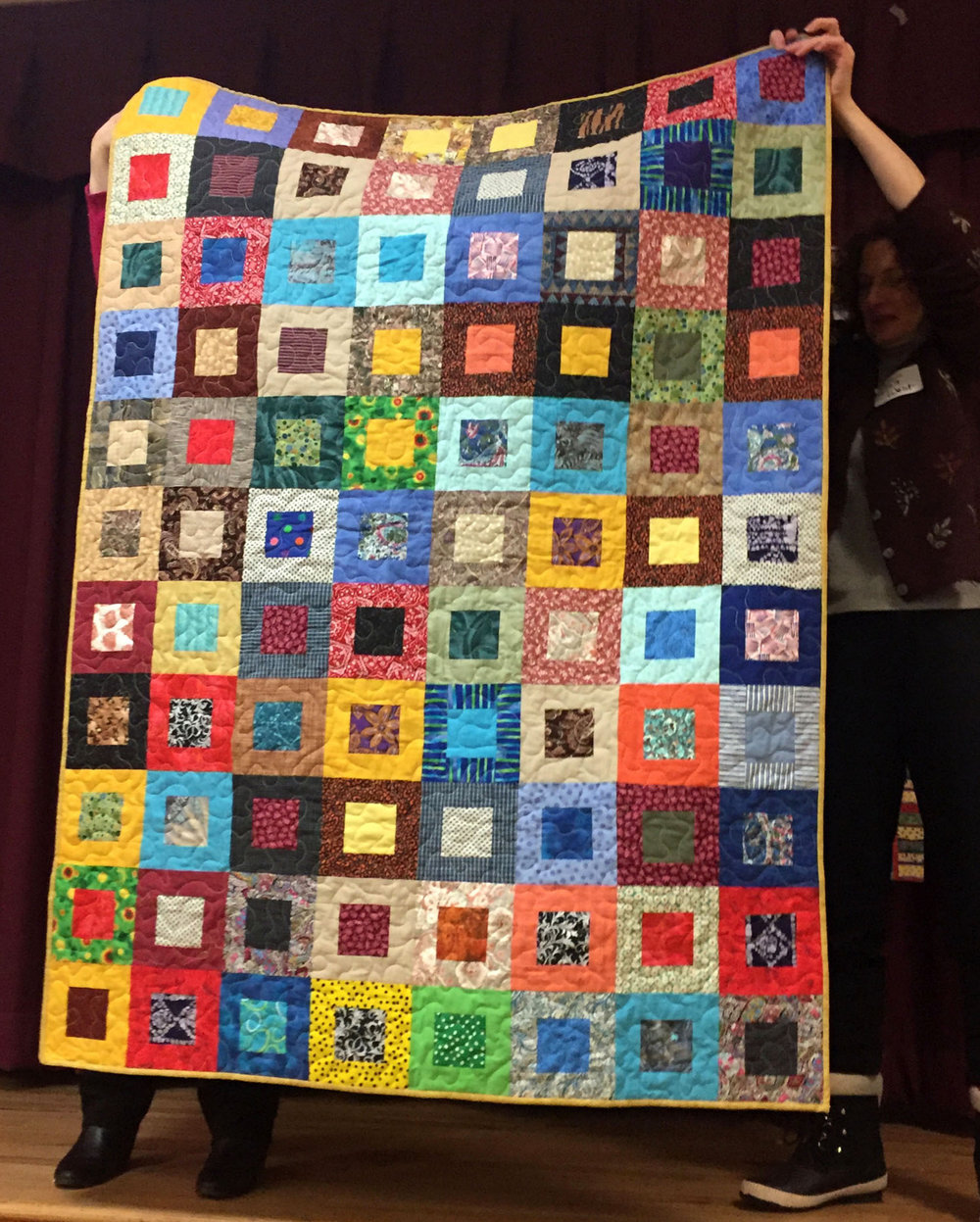 A veteran quilt made by Pat Decker.
