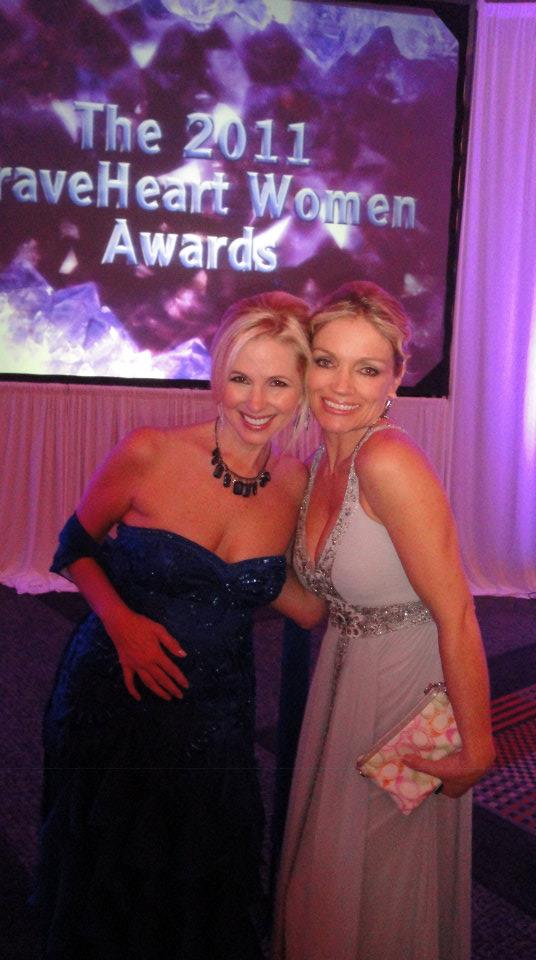 With Suzanne Sena at the 2011 BraveHeart Women Awards