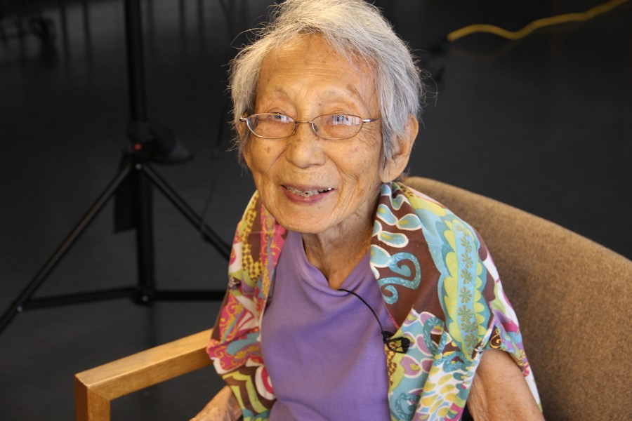 Sanae's mom from the documentary, Hidden Legacy (about keeping culture alive in the internment camps)