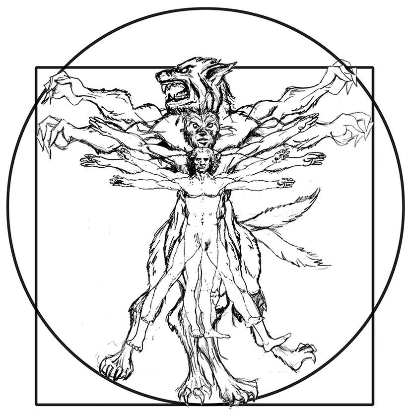 Vitruvian Wolf