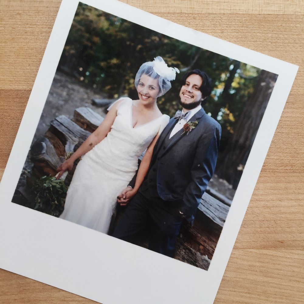Avi and me on our wedding day in October, 2013.