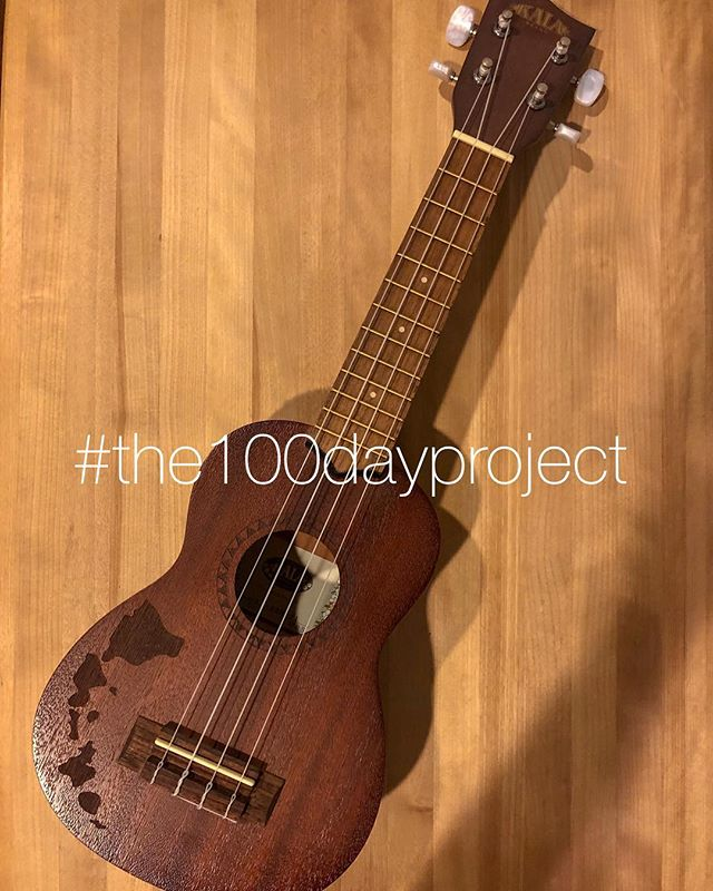 April 2nd, day one of #the100dayproject. I've been trying to decide what my project will be. Something that will motivate me in my work and creative endeavors? No. Something just for fun? Just for me? Yes. As a new(ish) mom, I haven't done much that's just for me (other than get my hair done, of course!) since I had my baby. So, ten minutes a day (the suggested time to spend daily on the project) of ukulele. That I can do. I'm so excited! Who else is doing the #100dayproject? Oh, and I'll most likely post my project updates on my stories. 😊 . . . . . #100DaysofUkuleleSongs #100daysofukulelebaby #100dayproject2019