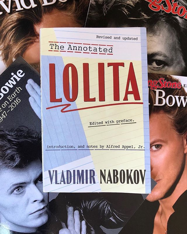 Episode 9 of the @75reads podcast drops today! Join @aprilthebowlby and me as we discuss part 1 of Vladimir Nabokov's Lolita. For a subject matter (pedophilia) that is so incredibly hard to stomach, we're finding the book to be quite beautiful. We're discussing this, and other dichotomies this read is presenting us with on the show. Check it out! ~ link in profile. . . . . . . . . . . . . . . #bookclub #podcast #bowie #davidbowie #75reads #bookish #booklove #booktube #librarygrab #letsdiscuss #30minaday #20pagesaday #bookstagram #lolita #vladimirnabokov