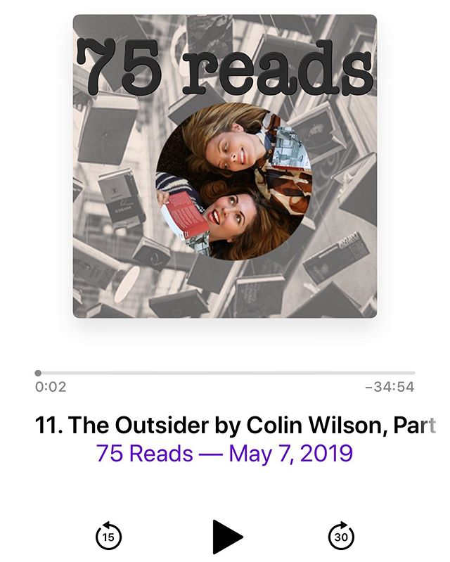 Join @aprilthebowlby and me on @75reads as we dive into the Bowiest book yet! It's The Outsider by Colin Wilson, and oof! It packs a punch. For a minute, I didn't get it. Then I got it, maybe too much. This book is blowing our minds! What kind of Outsider was Bowie? Was he, in fact, an Outsider? Are you? ~ link in bio. #bowie #bookclub #booklover #rocknroll #reads #podcast