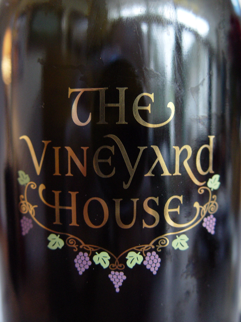 The Vineyard House - Wine Label