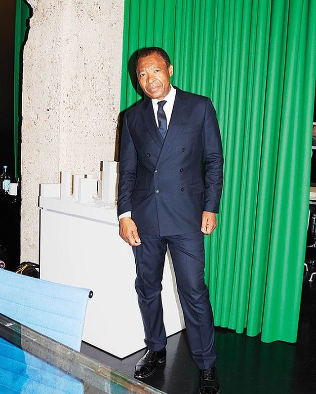 """There are ways in which artworks speak that aren't necessarily loud: they can whisper and still have great power."" - Okwui  Enwezor 🌿Thank you. May you rest.  Photography by Juergen Teller for WSJ."