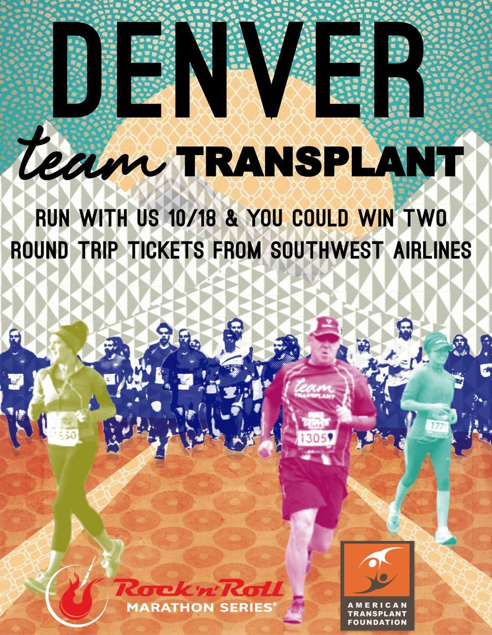 Running Flyer for the American Transplant Foundation