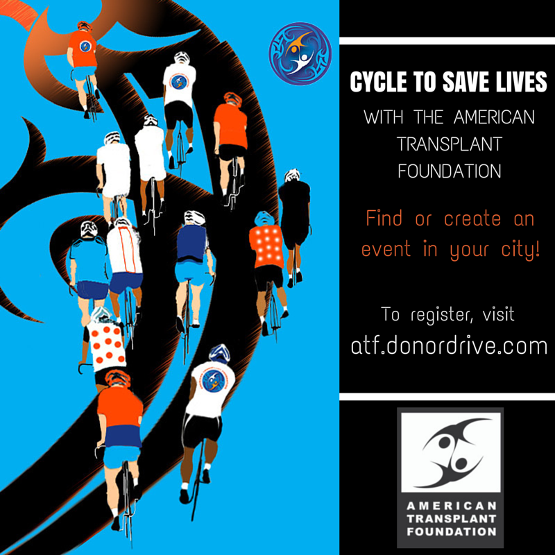 Elephant Rock Cycling Festival Banner for the American Transplant Foundation