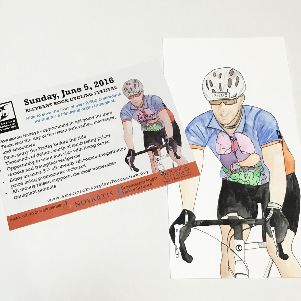 Biker Illustration and flyer for Non Profit Marketing Materials