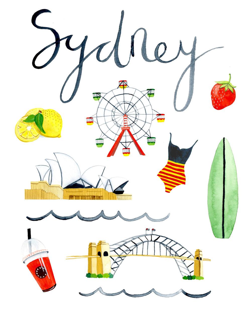 Sydney Spot Illustrations