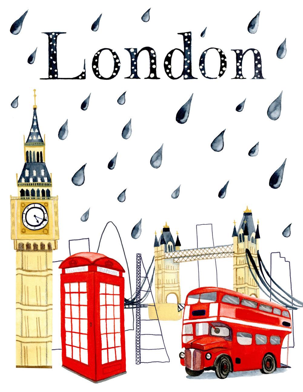 London Poster/Editorial Illustration