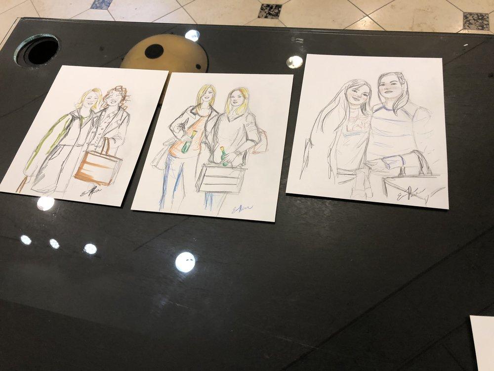 Live illustration at Nordstrom