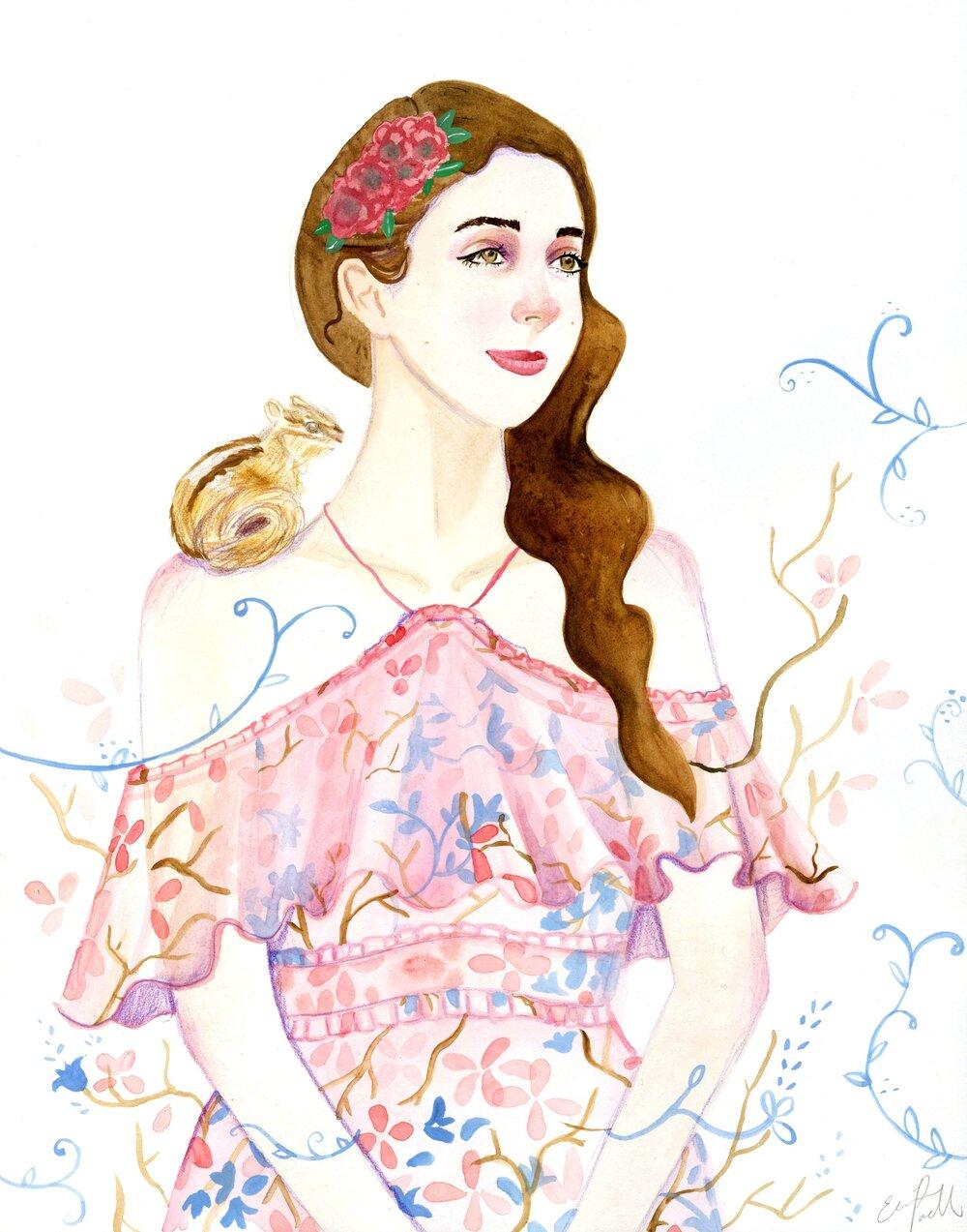 Alice and Olivia Fashion Illustration Spring 2018