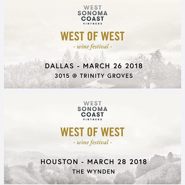 Hey Texas!  Headed your way for both trade & public events in Dallas and Houston with @westsonomacoast friends.