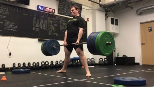 Ben deadlifting 505 pounds