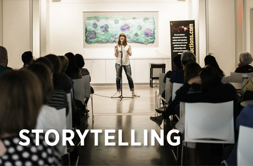 We present storytelling — featuring Moth and Massmouth Slam winners along with local community folks — in West Acton, Arlington, and Concord.