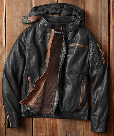 Double-Clutch Leather Jacket