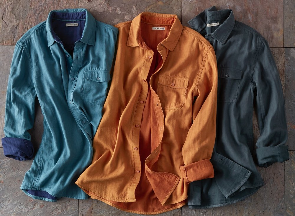 Infinite Shirts - Gauzy softness from our signature double cloth meets the versatility of a solid color button down.