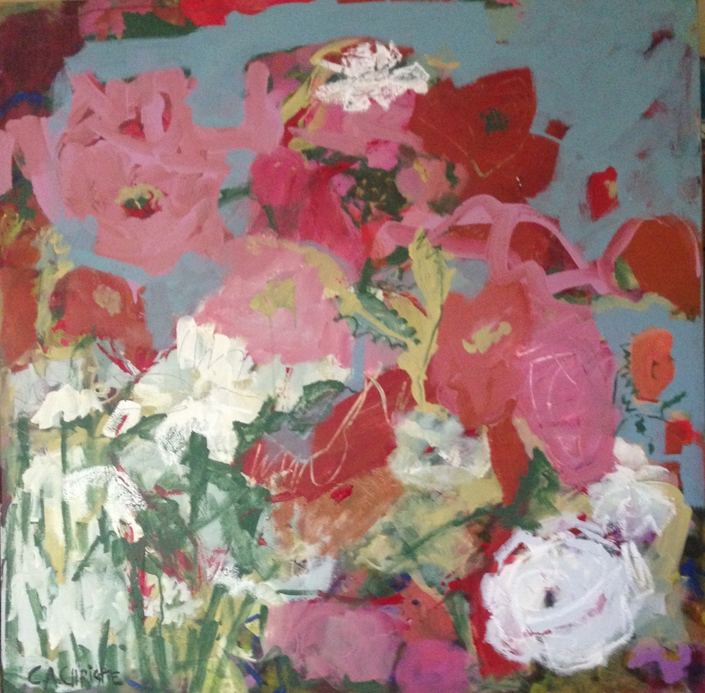 Flower Market, 36x36  SOLD