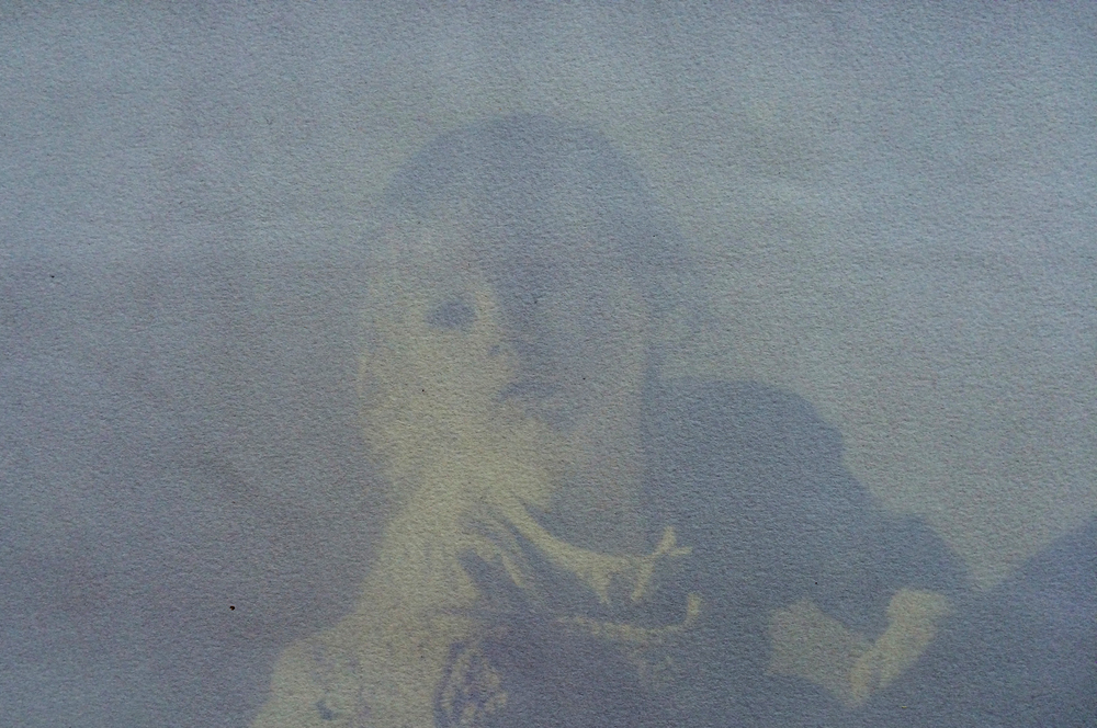 Nico, Blueberry emulsion anthotype, 2015