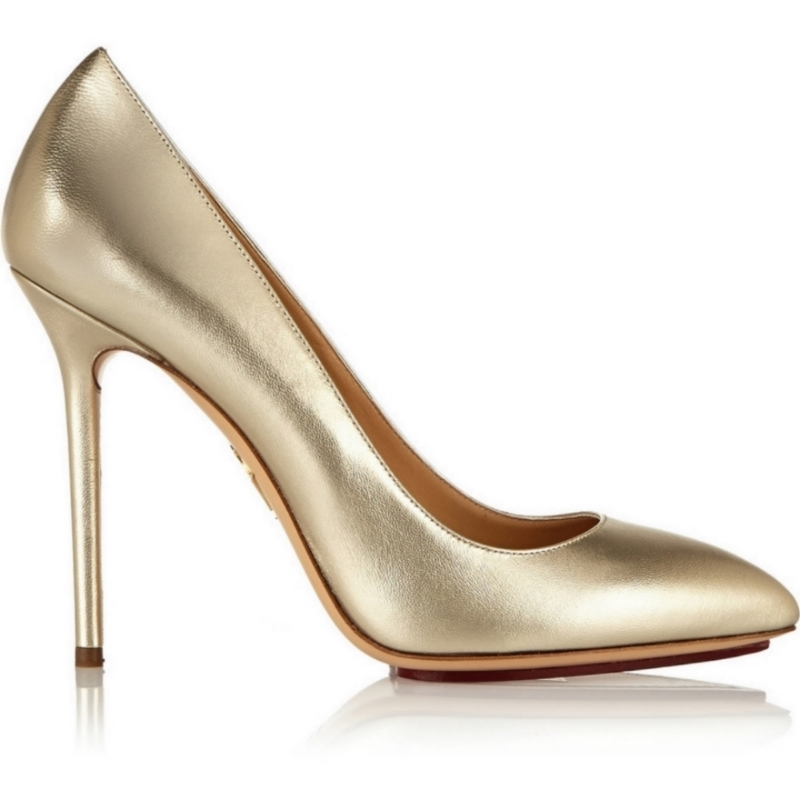 CHARLOTTE OLYMPIA - Monroe Metallic Leather Pumps