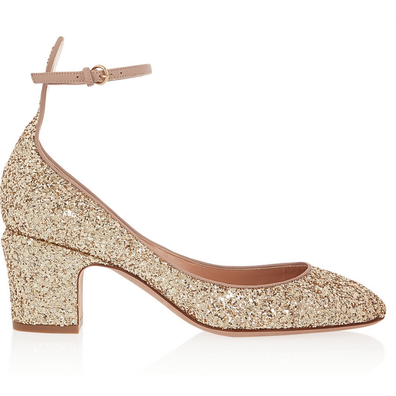 VALENTINO - Tango Glitter-Finished Leather Pumps