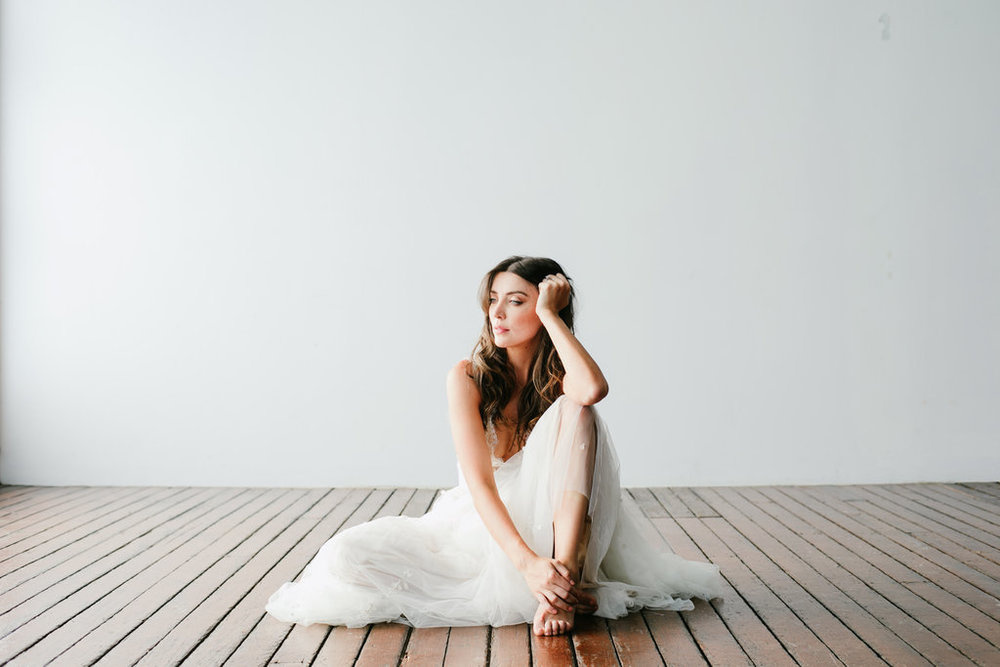 Monique Lhuillier wedding dress featured on LOVE FIND CO. editorial