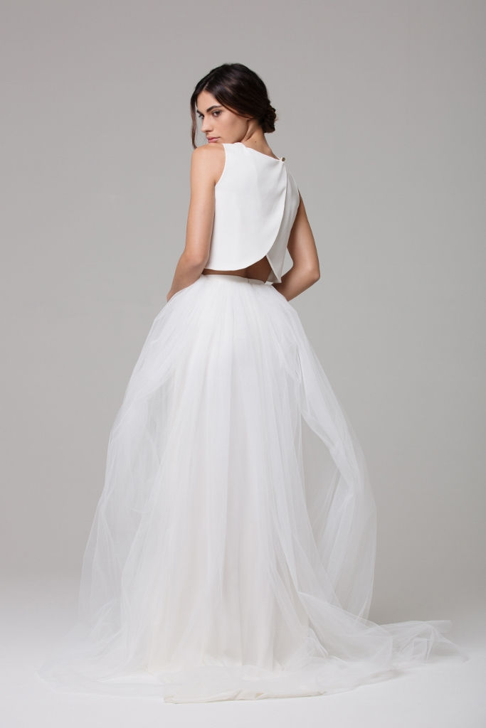 LOVE FIND CO. // Ivie White Bridal - The Odete Crop with the + Noella & Odete Skirts // Follow @lovefindco
