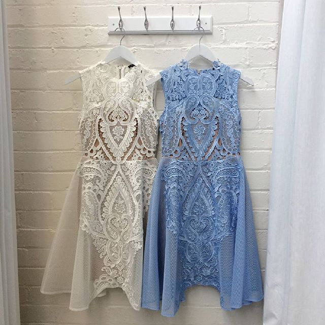@whiterunway Our lovely Centre Stage Flare Dresses #whiterunway #bridetobe #kitchentea #weddingfash.jpg