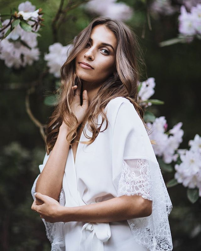 Nataljia Audrey Bridal Robe at Love Find Co