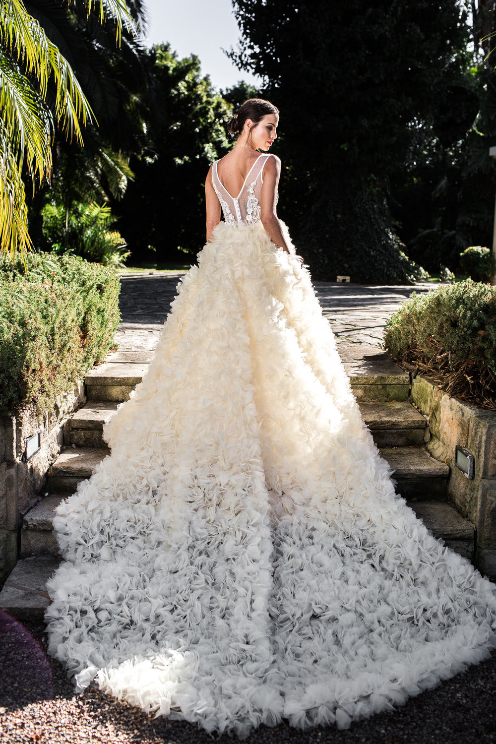 Wedding dress by Sant Elia | Read about designer, Stephanie on LOVE FIND CO.